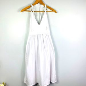 VS Bra Tops White Halter Top Dress Open Back Med